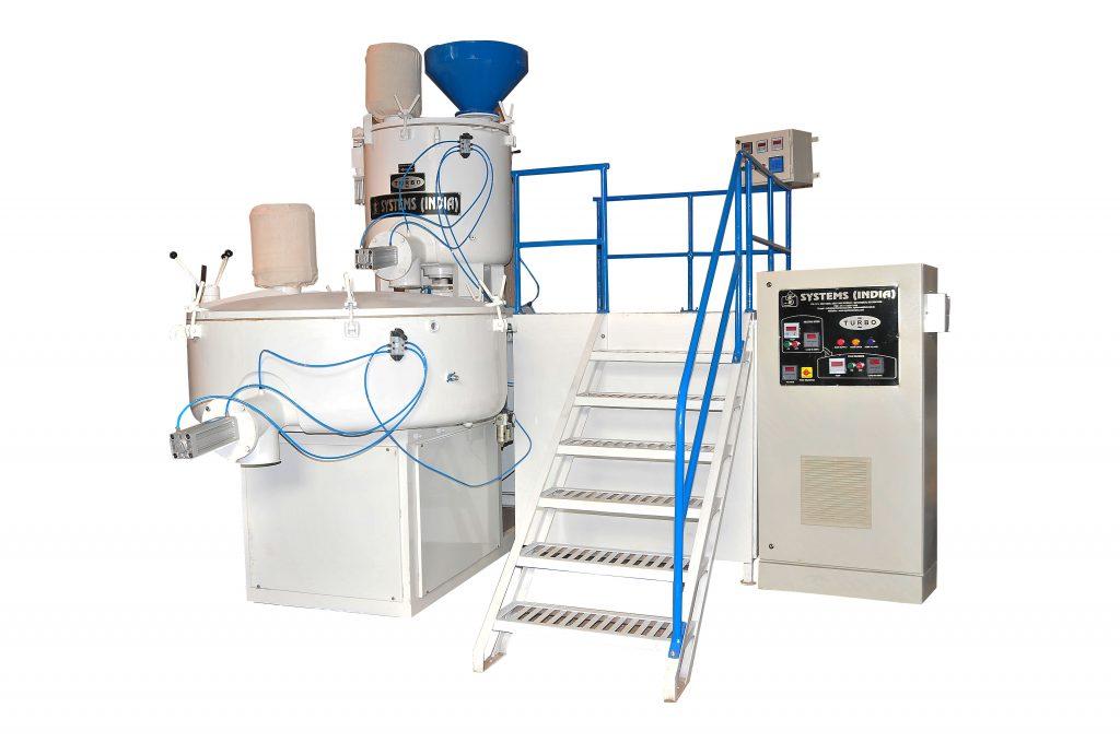 High Speed Mixer & Cold Blender , Heating Cooling Mixer